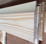 1x6 & 1x8 D grade Yellow Pine Novelty Siding